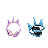 2x Wireless LED Cute Ear Headphone Folding Headset Earphone for Kids Girls Boys