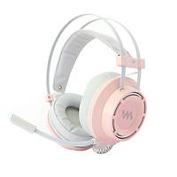Tai nghe chụp tai chuyên game Wangming 9800S Pink  Âm Thanh 7.1 - Led RGB - Jack Cắm USB - Hàng chính hãng