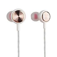 Tai nghe nhét tai có dây VivuMax J12 - Jack cắm 3.5mm, có Mic/Microphone - Cho iOS/Apple (iPhone/iPad), Android (Samsung, Vsmart, Sony, Xiaomi, Huawei, Oppo) Màu Trắng/Đen - Hàng Chính Hãng