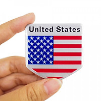 Sticker hình dán metal Cờ Mỹ - Miếng lẻ - Khiên 5x5cm