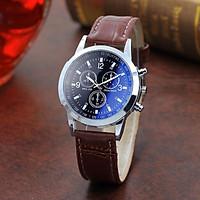 Đồng hồ đeo tay nam dây da CFHD lịch lãm cực đẹp DH101