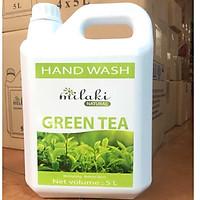 Sữa rửa tay Milaki Natural Green Tea hương trà xanh 5L