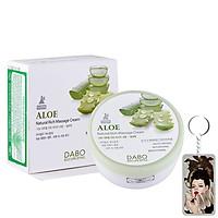Kem massage mặt và toàn thân làm trắng và tái tạo da Dabo Aloe Natural Cream Hàn Quốc 200ml + Móc khoá