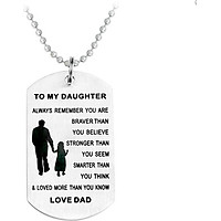 Necklace Jewelry Set Dogs Steel Birthday Gift