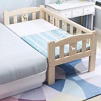 Giường ngủ cho bé chất liệu gỗ thông size 1m28 quây 3 mặt ghép cạnh giường ba mẹ tặng kèm hộp bút màu nước.