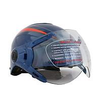 Mũ Bảo Hiểm 1/2 đầu sang trọng BKtec có kính -hàng chính hãng