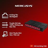 Bộ Chia Mạng Mercusys MS108 8 Cổng 10/100/1000 Mbps - Hàng Chính Hãng