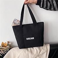 Túi Tote Vải hq DREAM YOLA SHOP Túi xách nữ vải canvas đẹp, size lớn vừa A4 đi học đi làm TUIV.004