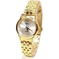 Đồng hồ Nữ Halei - HL502 Dây vàng mặt trắng