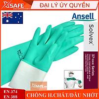 Găng tay chống hóa chất Ansell 37-176 cấu tạo nitrile - chống hóa chất - axit - dầu nhớt - thấm hút mồ hôi tốt