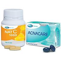 Thực phẩm bảo vệ sức khoẻ Acnacare & thực phẩm bảo vệ sức khoẻ MEGA WECARE Nat C