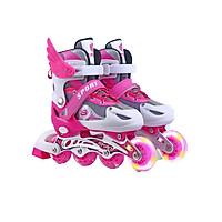 Giày patin trẻ em siêu hot cho bé màu hồng có cánh