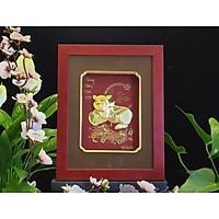 Tranh heo dát vàng (26x33cm) mẫu 03 MT Gold Art- Hàng chính hãng, trang trí nhà cửa, phòng làm việc, quà tặng sếp, đối tác, khách hàng, tân gia, khai trương