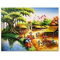 Tranh treo tường cảnh làng quê Việt Nam LunaCV-0499