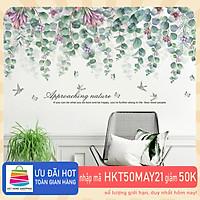 Sticker Giấy Dán Tường Decal Dán tường Mẫu Hoa Lá Cực Xinh ZH013