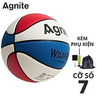 Quả bóng rổ số 7 Agnite - Da PU cực bền, đẹp, chống bẩn, không mòn - Hàng chính hãng - F1113