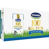 Thùng 48 Hộp Sữa Tươi Tiệt Trùng Vinamilk 100% Ít Đường  (110ml / Hộp)