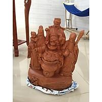 Bộ ba phước lộc thọ chùm cao 40cm, gỗ hương