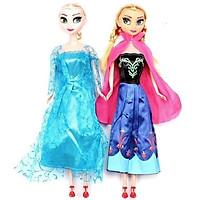 Bộ 2 Búp Bê Công Chúa Frozen Nữ Hoàng Băng Giá Elsa Và Anna Có Khớp Cho Bé Gái - Đồ Chơi Trẻ Em