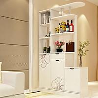 Tủ vách ngăn phòng khách, kệ trang trí phòng khách TUR055