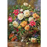 Tranh sơn dầu số hoá tự tô - Lọ hoa hồng SDBHH00017