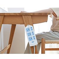 Giá đỡ ổ cắm điện thông minh treo tường, dụng cụ cố định vật dụng gia đình đa năng, tiện dụng