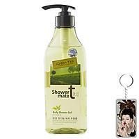 Sữa tắm trà xanh Showermate Body Nature Green Tea Hàn Quốc 550ml tặng móc khóa