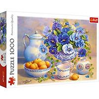 Tranh ghép hình chính hãng Trefl 10466 - 1000 mảnh Chủ đề Lẵng hoa Xanh
