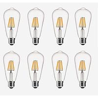 Bộ 8 bóng đèn Led Edison ST64 6W đui E27 hàng chính hãng.