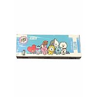 Hộp ảnh bookmark BTSchibi dễ thương, hộp 36 tấm nền xanh