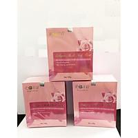 Mặt nạ ngủ collagen tổ yến tươi cánh hoa hồng Rova chống lão hóa da (3 hộp)- tặng nước hoa hồng rova lọ mini