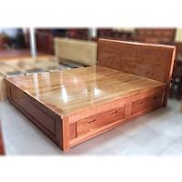 Giường ngủ gỗ xoan đào ngăn kéo vạt phản 1m8