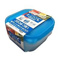 Set 3 hộp nhựa 380ml màu xanh nội địa Nhật Bản
