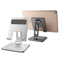 Giá Đỡ Điện Thoại (All Size) Ipad Mini Hợp Kim Nhôm Nguyên Khối - 2 Trục Điều Chỉnh Góc Độ - Gấp Gọn Tiện Lợi - Triều Cường Tech Hàng Chính Hãng