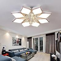 Đèn ốp trần cánh hoa pha lê trang trí nội thất