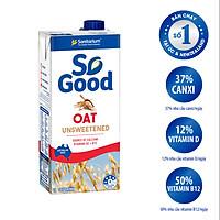 Sữa hạt yến mạch Úc SO GOOD 1L, làm từ yến mạch Úc, calo thấp, phù hợp mẹ bầu