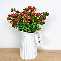Cây Giả Combo 5 Cây chery Quả Đỏ 30cm