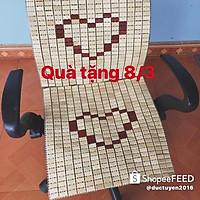 Combo 2 tấm chiếu trúc lót ghế văn phòng ghe oto ghe chơi game làm quà tặng