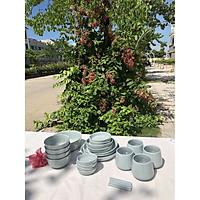 Bộ chén đĩa gốm sứ Mono 4 người 1 bát canh (24P) - Erato - Hàng nhập khẩu Hàn Quốc