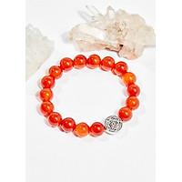 Vòng tay phong thủy nữ đá mã não đỏ charm may mắn 8mm mệnh hỏa , thổ - Ngọc Quý Gemstones