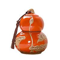 Bình đựng trà phong cách Nhật Bản hình dáng quả bí hồ lô IM48932- Có 2 màu Xanh và cam