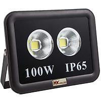 Đèn pha LED ngoài trời HKLED tròn 100W - IP65