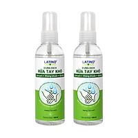 Dung dịch rửa tay khô Latino trà xanh 100ml - Combo 02 chai (Dạng xịt phun sương)