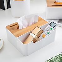 Hôp đựng khăn giấy đa năng tiện lợi bằng gỗ