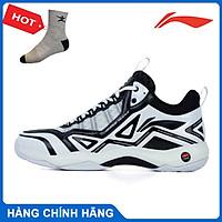 Giày cầu lông Lining AYTR007 chính hãng dành cho nam, 2 màu, đế đàn hồi - Tặng tất thể thao Bendu