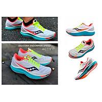 Giày chạy bộ nam Saucony Endorphin Speed White Mutant/Trắng xanh - Trắng