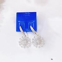 Bông tai bạc hoa đá chất liệu bạc s925 MS85b