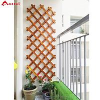 Giàn gỗ đa năng trang trí ban công, giàn leo cho cây, hoa, kệ gỗ gắn tường treo cây ban công