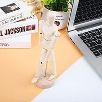 Wooden Manikin Jointed Doll Simple Flexible Hotel Ornament Decoration
