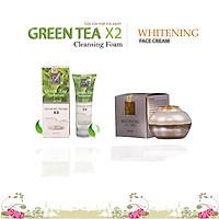 Combo Kem Face Pháp Acosmetics và Sữa Rửa Mặt Trà Xanh X2 Acosmetics